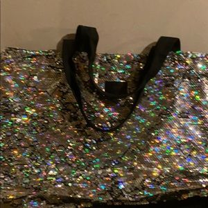 Vs pink sequins bag